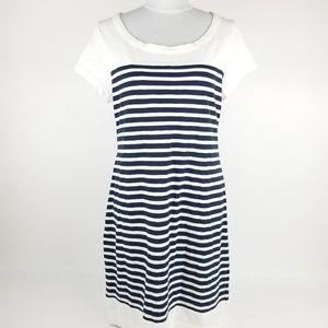 Banana Republic Blue Striped Dress Size Large
